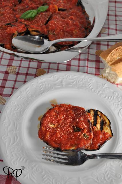 Parmigiana al piatto