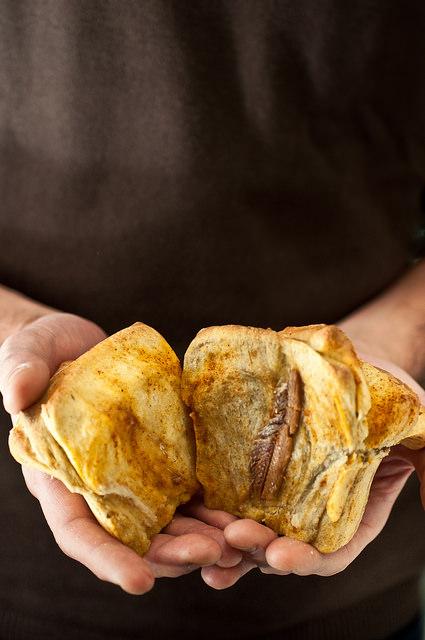 pull bread apart