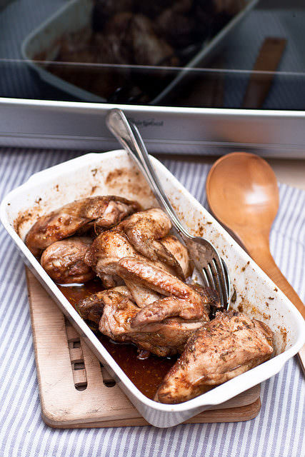pollo al vino al microonde