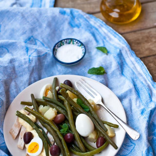 insalata fagiolini uova