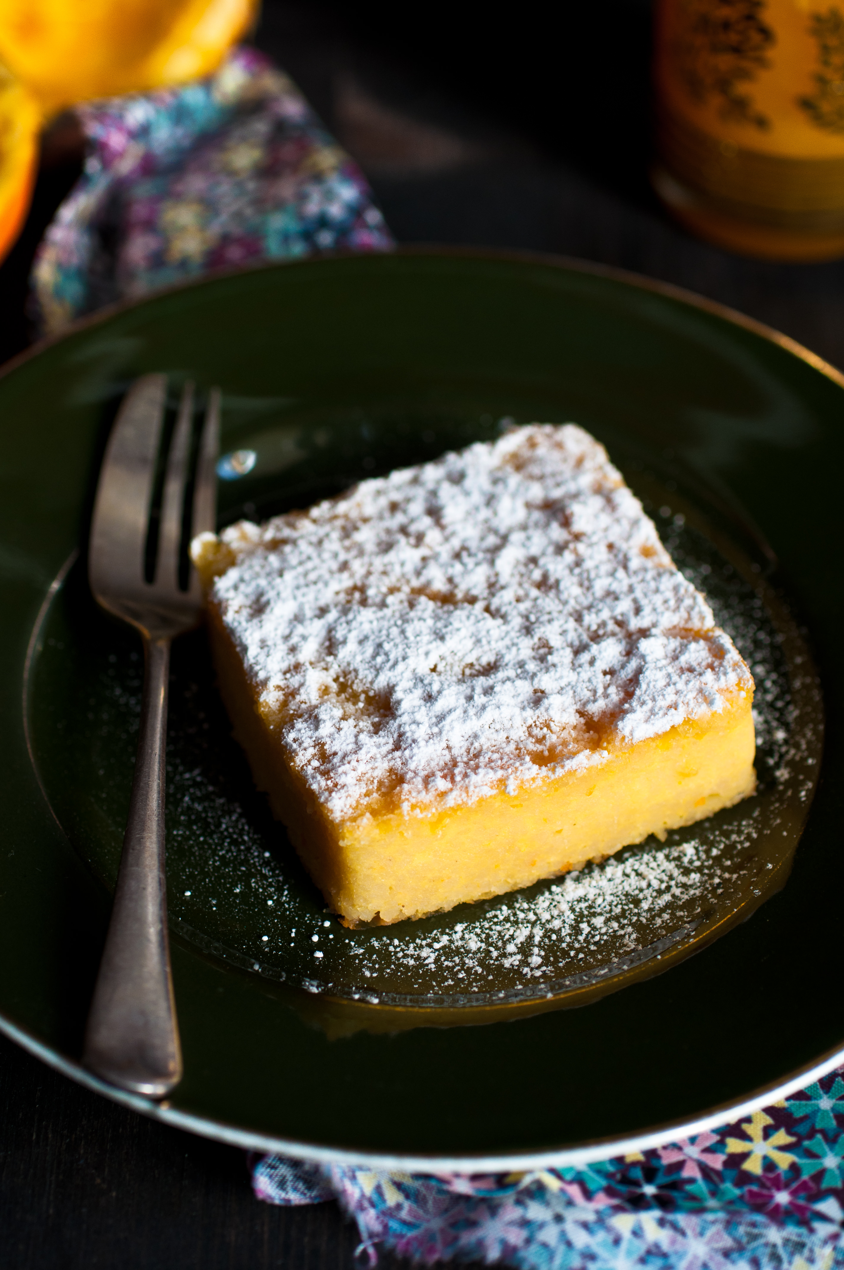 Torta di cous cous e arancia