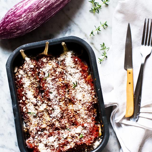 Melanzane ripiene vegetariane - ricetta calabrese