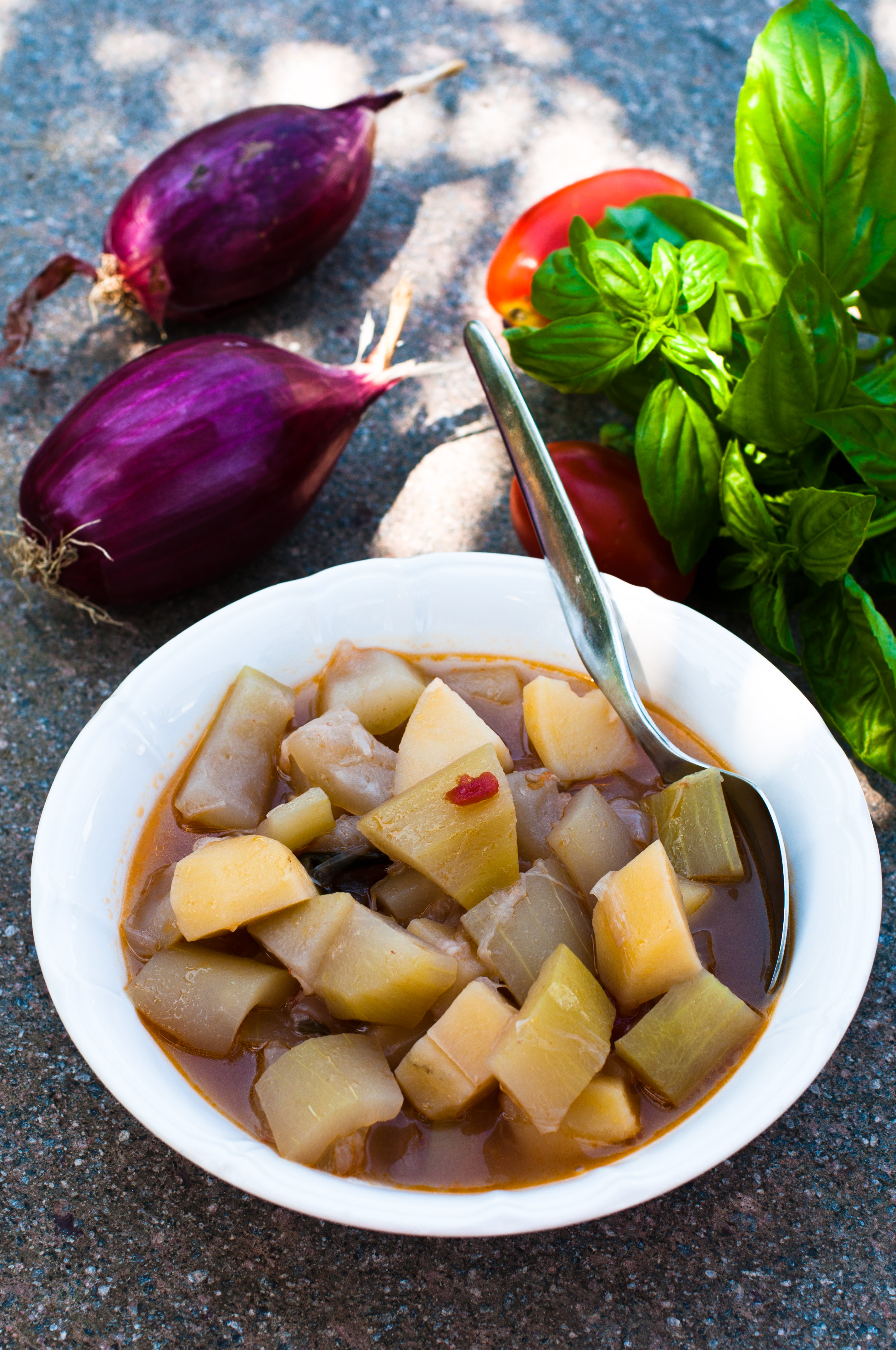 Zuppa di zucca lunga e patate