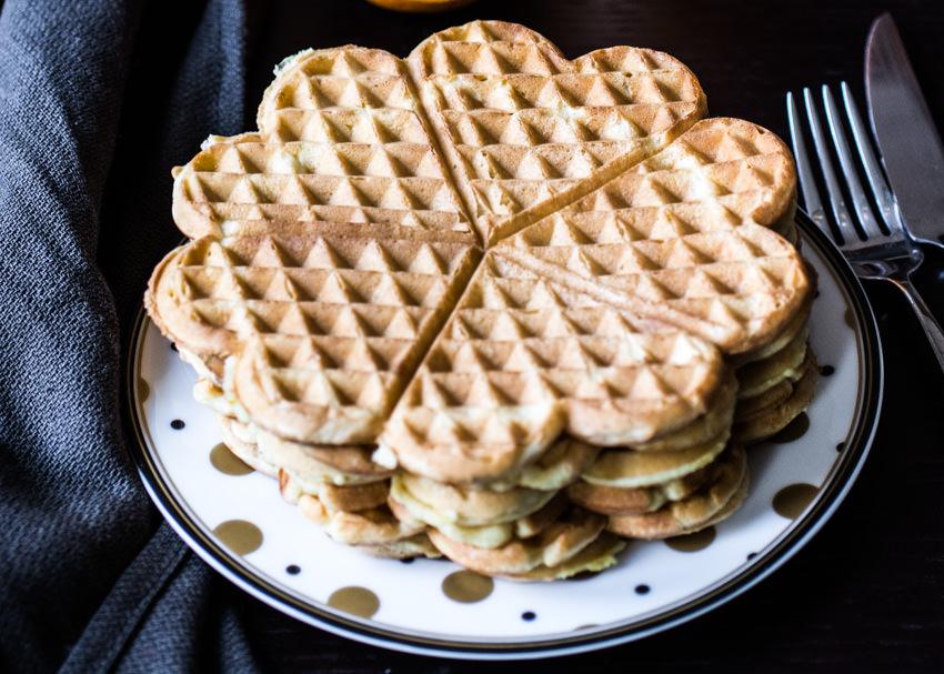 Waffle all'arancia