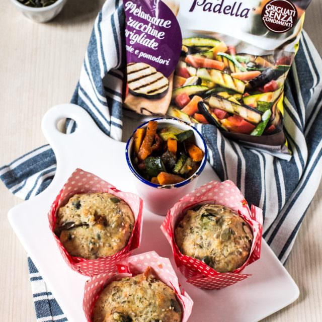 muffins salati con farina integrale e verdure