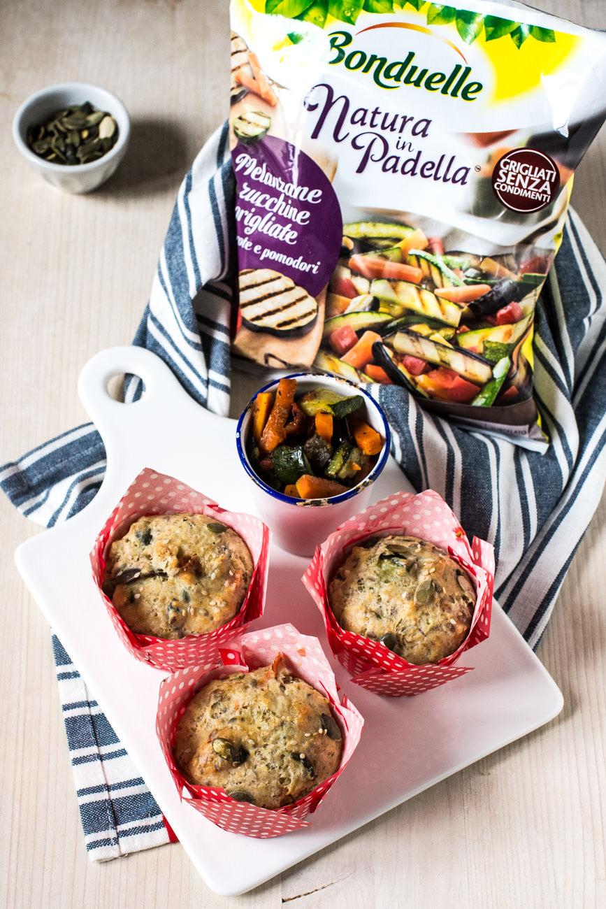 Muffins salati integrali con verdure