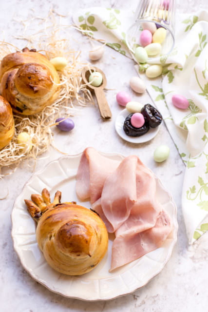 Colombine di pan brioche salato