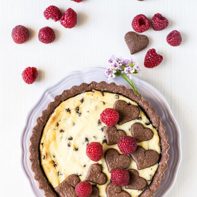 crostata al cioccolato con crema di ricotta