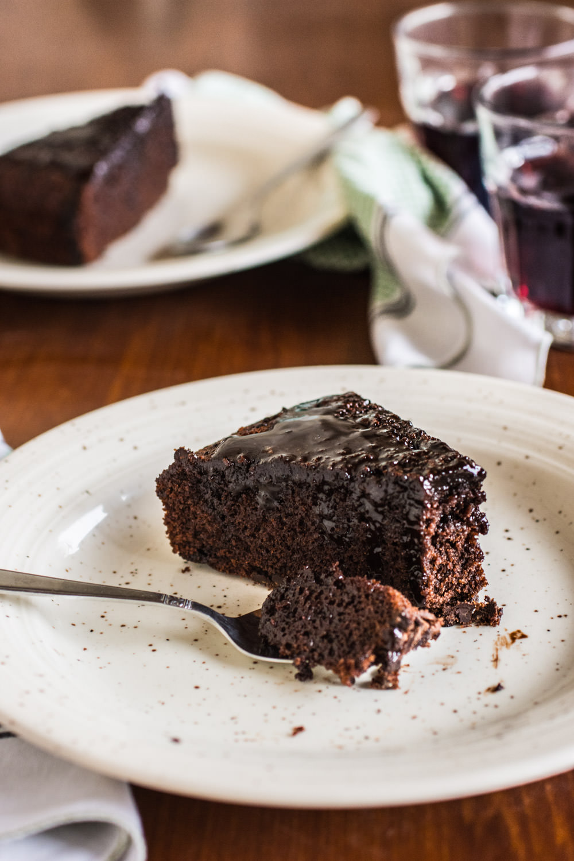 Torta al vino rosso e cioccolato