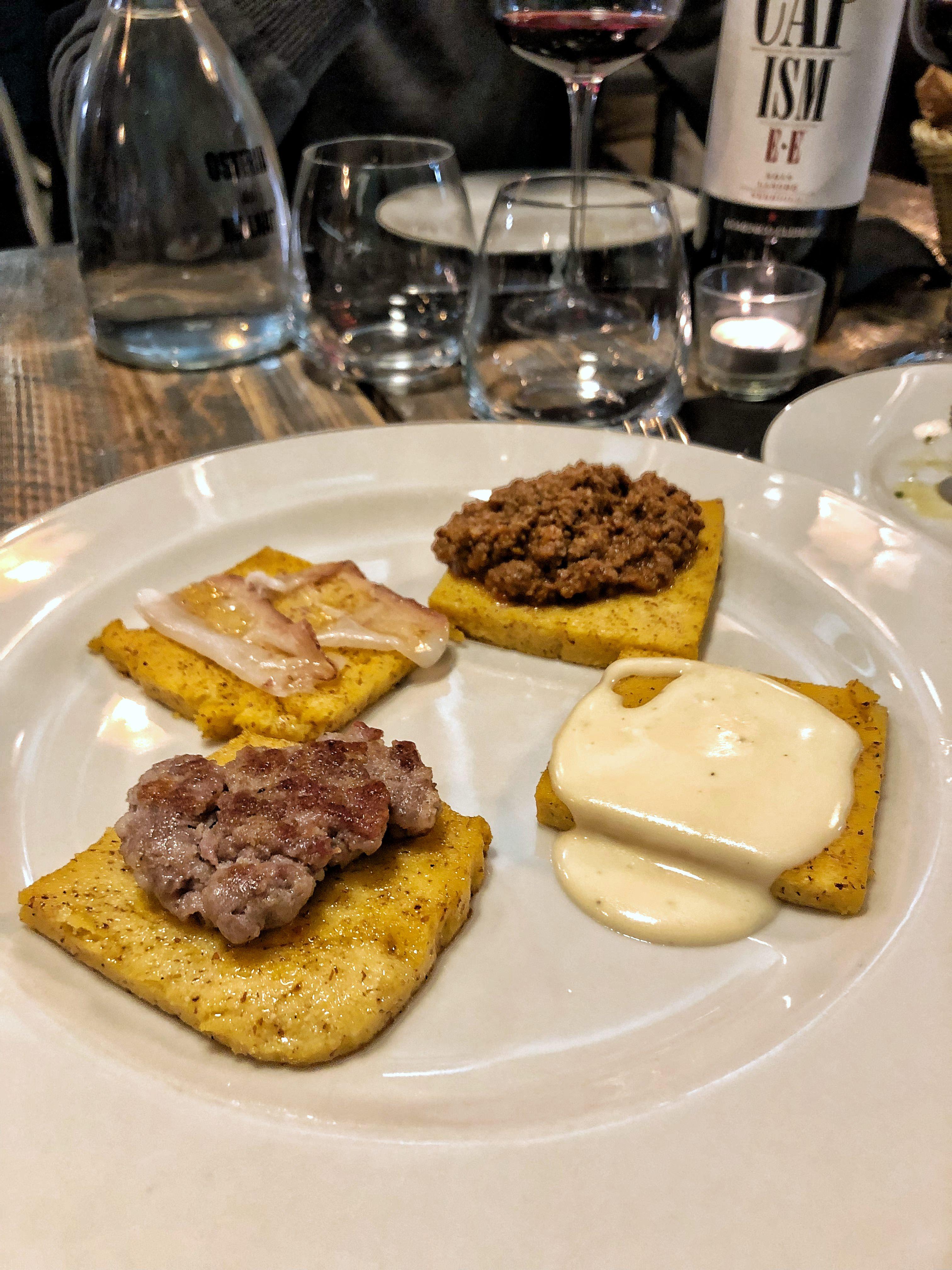 Osteria dei Malnat - Crostini di polenta