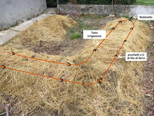 Orto sinergico - impianto irrigazione