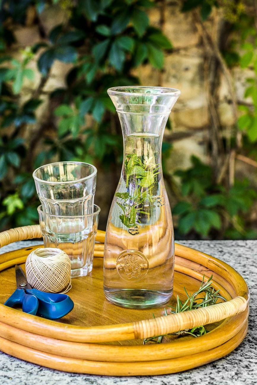 Pranzo nell'orto - acqua aromatizzata
