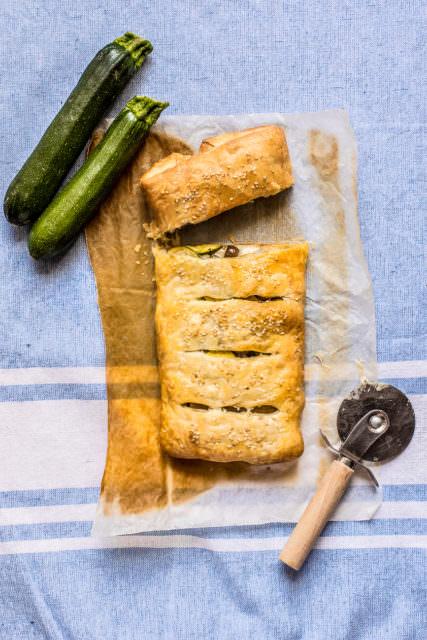 Strudel di zucchine e olive