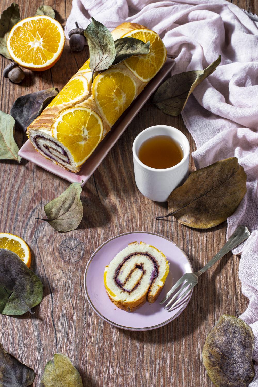 Rotolo all'arancia e miele