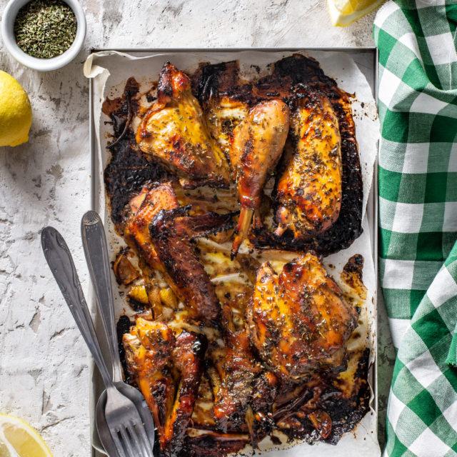 Pollo al limone e miele
