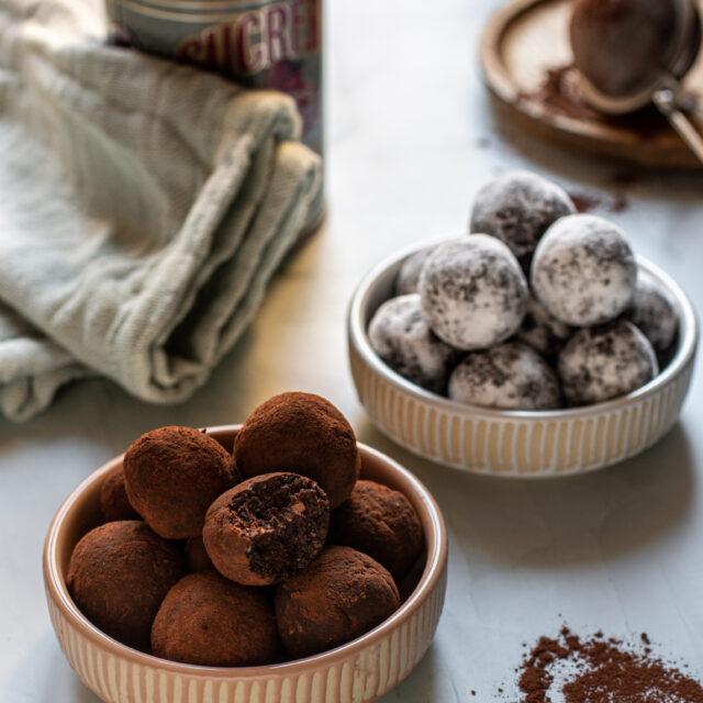 Tartufi vegetariani al cocco e cioccolato1