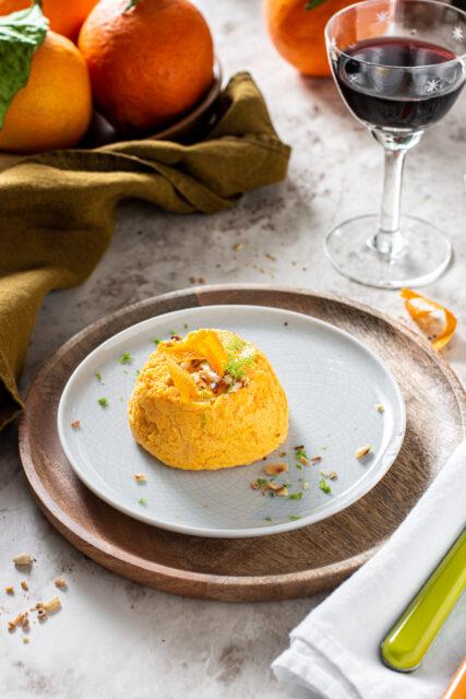 Budini salati con carote e arancia