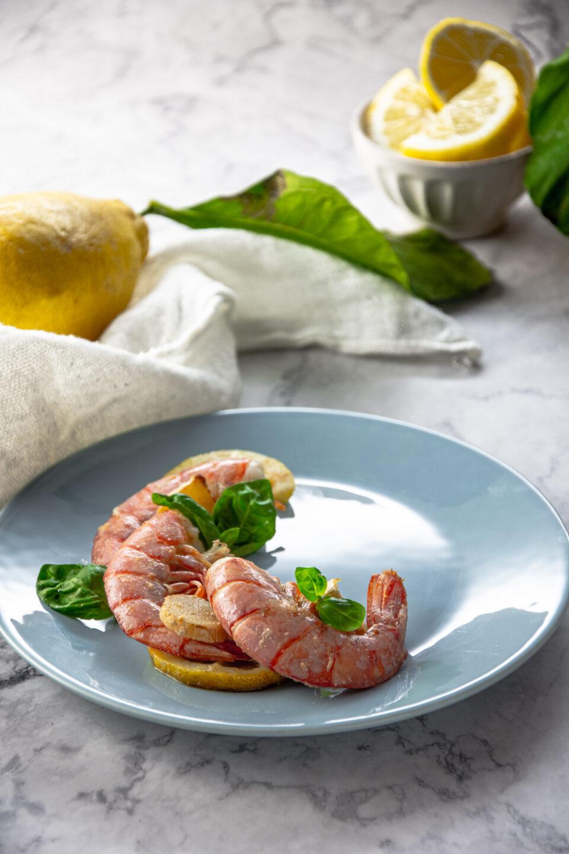 Gamberi al limone e zenzero