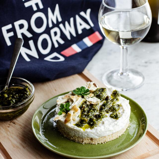 Cheesecake di baccalà norvegese
